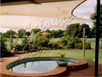 swimming pool shade cover structure